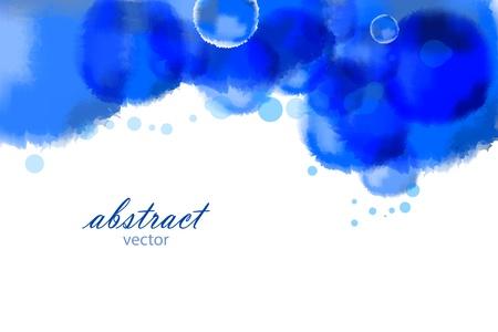 Illustration pour Vector bright blue watercolor background - image libre de droit