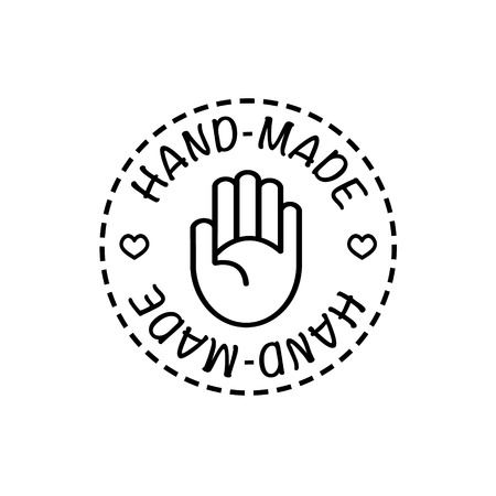 Illustration for Vector hand-made badges trendy modern style black and white - Royalty Free Image