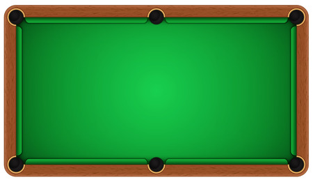 Ilustración de Empty billiard table on a white background. EPS 10 - Imagen libre de derechos