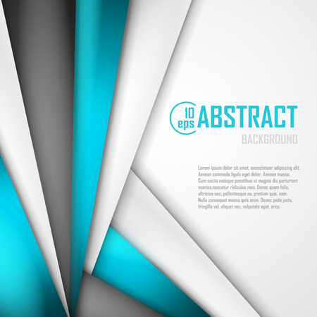 Illustration pour Abstract background of blue, white and black origami paper.  - image libre de droit