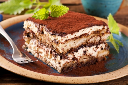 Photo for Tiramisu on the plate - Royalty Free Image