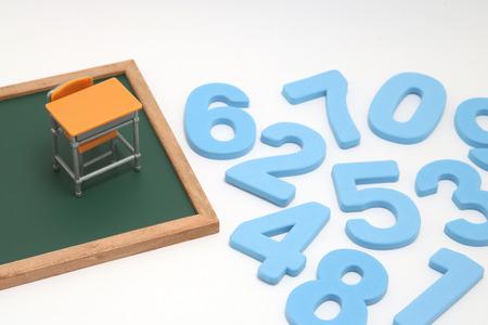 Photo pour Educational concept of mathematics and arithmetic. - image libre de droit