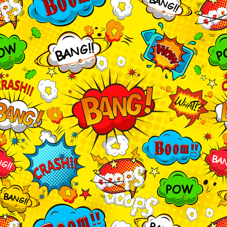 Illustration for Comic speech bubbles seamless pattern vector - Royalty Free Image