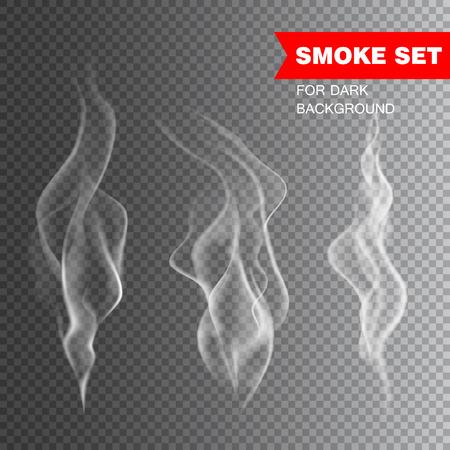 Ilustración de Isolated realistic cigarette smoke vector illustration - Imagen libre de derechos