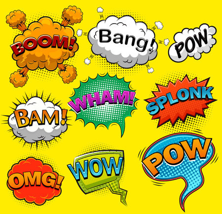 Ilustración de Comic speech bubbles. Sound effects. Vector illustration - Imagen libre de derechos