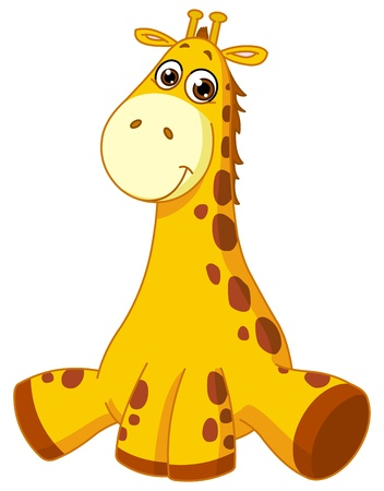 Illustration pour Baby giraffe - image libre de droit