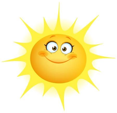 Ilustración de Cute smiling sun - Imagen libre de derechos