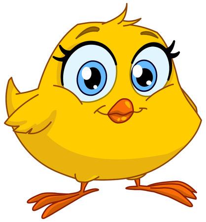 Illustration pour Cute smiling chick - image libre de droit