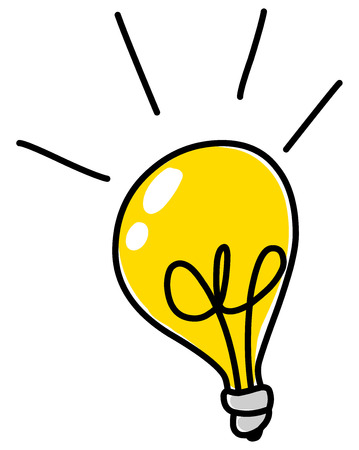 Illustrazione per Light bulb vector doodle - Immagini Royalty Free