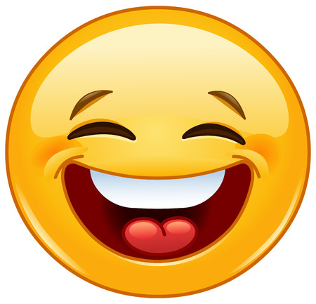 Illustrazione per Emoticon laughing with closed eyes - Immagini Royalty Free