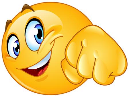 Illustration pour Emoticon giving a fist bump - image libre de droit