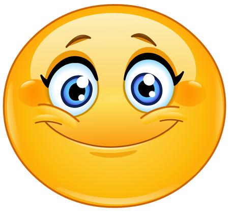 Illustration pour Emoticon smiling - image libre de droit
