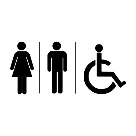 Ilustración de Man and lady toilet sign Vector illustration - Imagen libre de derechos