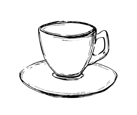 Illustration pour Vector hand drawn sketch coffee cup. Illustration for design, print or background - image libre de droit
