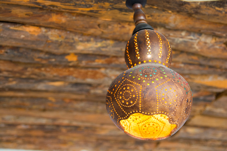 Photo for Water pumpkin lamp. handmade authentic decorative lamp. - Royalty Free Image