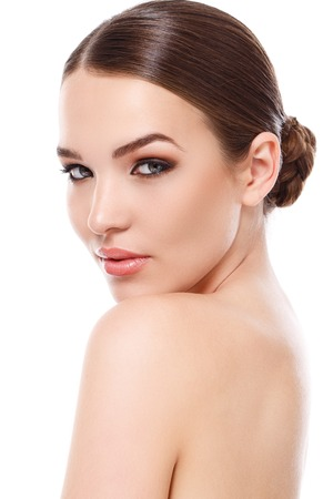 Photo for Beauty, spa. Attractive woman with beautiful face - Royalty Free Image