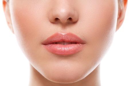 Photo pour Beauty, spa. Lips in details - image libre de droit