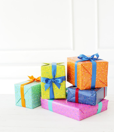 Photo for Celebration. Gifts on the floor - Royalty Free Image