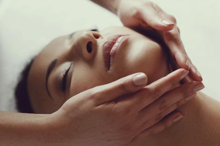 Photo pour Leisure. Woman in spa salon - image libre de droit
