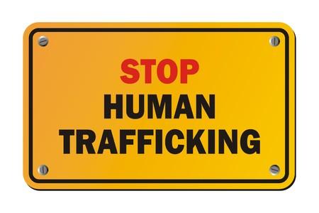 Ilustración de stop human trafficking - warning signs - Imagen libre de derechos