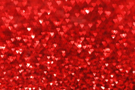 Photo pour Red hearts bokeh valentines day love background - image libre de droit