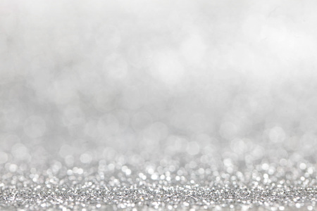 Photo pour Abstract silver glitter light bokeh holiday party background - image libre de droit