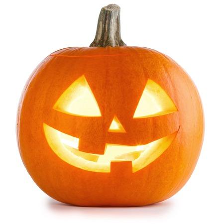 Foto de Halloween Pumpkin isolated on white background - Imagen libre de derechos