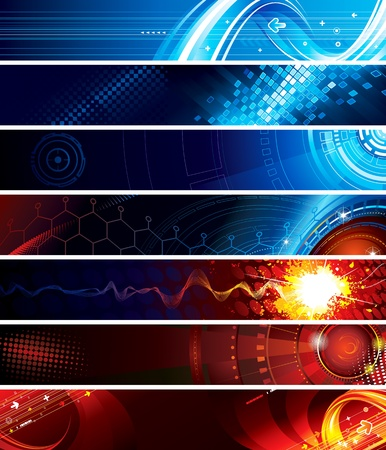 Foto de Set of abstract technology web banner - Imagen libre de derechos