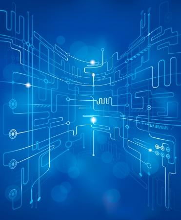 Photo pour Abstract technology blue background. - image libre de droit