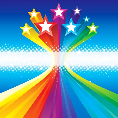 Ilustración de Stars flowing abstract background for Holiday celebration. - Imagen libre de derechos