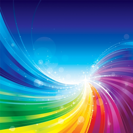 Illustration pour Abstract rainbow colors wave background. - image libre de droit