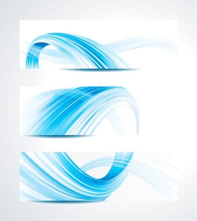 Ilustración de Set of abstract technology header background. - Imagen libre de derechos