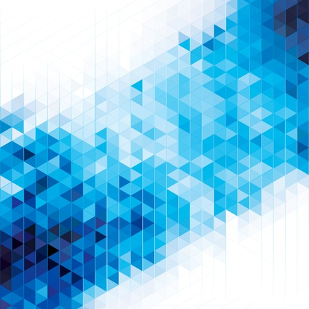 Illustration for Abstract modern geometric blue background  - Royalty Free Image
