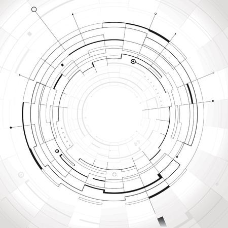 Illustration pour Abstract circular structure technology background  - image libre de droit