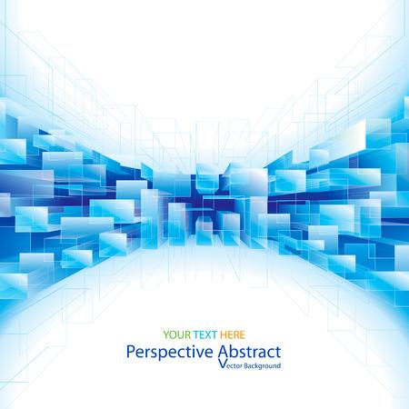 Photo pour Abstract blue perspective structure background. - image libre de droit