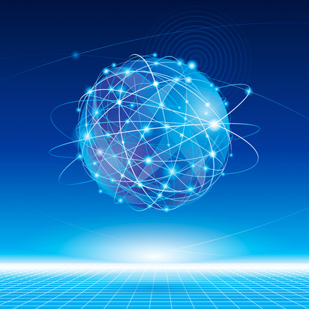 Illustration pour Global network connection abstract background. - image libre de droit