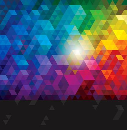 Illustration pour Abstract colorful geometric urban background. - image libre de droit