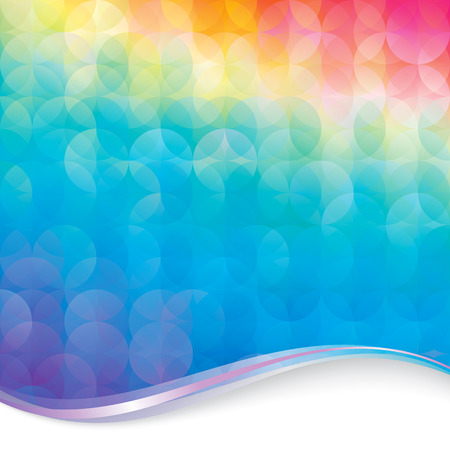 Abstract colorful circle pattern background.