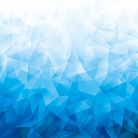 Illustration pour Geometric cold blue polygon pattern abstract background. - image libre de droit