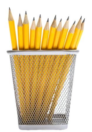 Photo pour Pencils in the pencil holders - image libre de droit