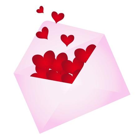 Photo pour Envelope with hearts popping out - image libre de droit