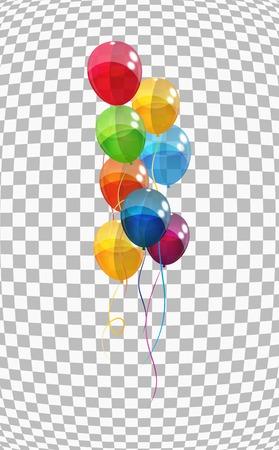 Ilustración de Color Glossy Balloons Background Vector Illustration   - Imagen libre de derechos