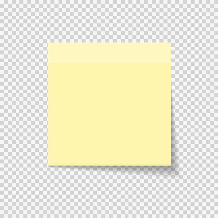 Ilustración de Sticky Paper Note on Transparent Background  Vector Illustration EPS10 - Imagen libre de derechos