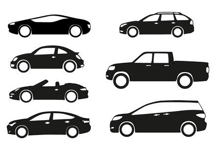 Illustration pour Silhouette cars on a white background. - image libre de droit