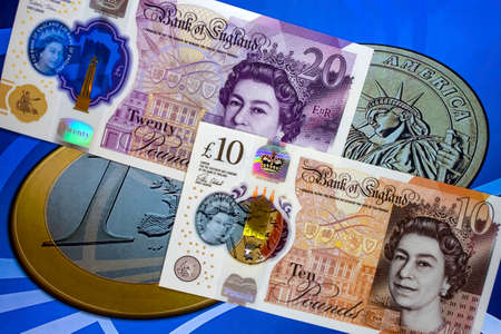 Pound sterling, the currency of the United Kingdom