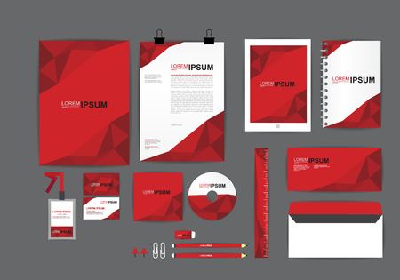 Ilustración de corporate identity template  for your business H - Imagen libre de derechos