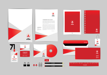 Illustration pour corporate identity template - image libre de droit