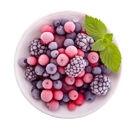 Photo for Frozen berry isolated top view - Royalty Free Image