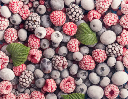 Photo for Assorted frozen berries background - Royalty Free Image