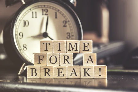 Photo pour Time for a break concept - image libre de droit